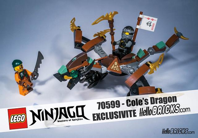 REVIEW LEGO Ninjago 70599 Cole's Dragon - HelloBricks | Blog LEGO