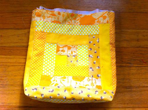 bag + lining nestled together