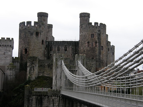 Conwy Castle and Telford's Bridge
