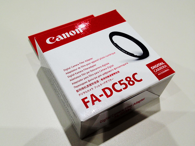 Canon G1X with FA-DC58C