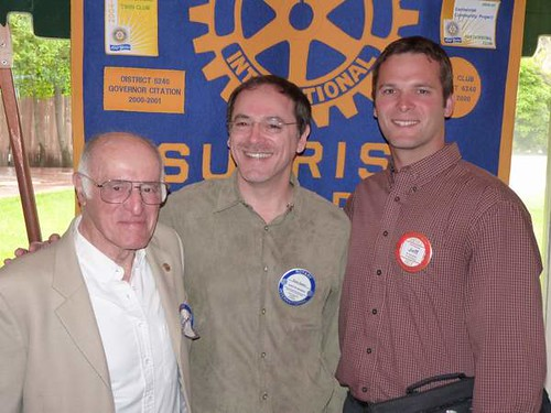Three Generations in Rotary Eric, Steve, Jeff