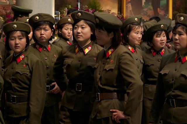 North Korean Soldiers at Flower Expo Pyongyang