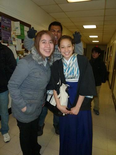 Chantel and Anna Kimono Pitt 2011