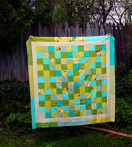framed patchwork quilt top