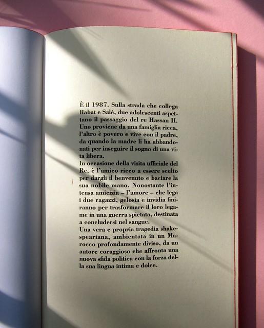 Abdellah Taïa, Ho sognato il re, ISBN 2012. Grafica: Alice Beniero. Carta di guardia (part.), 1