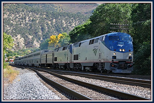 Westbound - California Zephyr @ Glenwood Springs Co. by Loco Steve