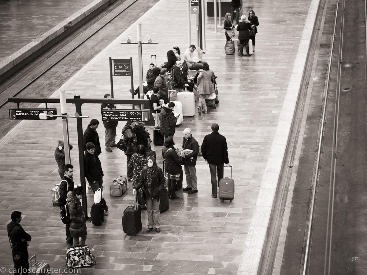 En la estación de Zaragoza - Delicias