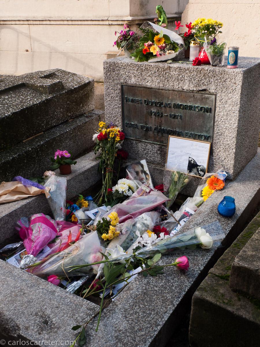 Jim Morrison en el cementerio del Pére-Lachaise