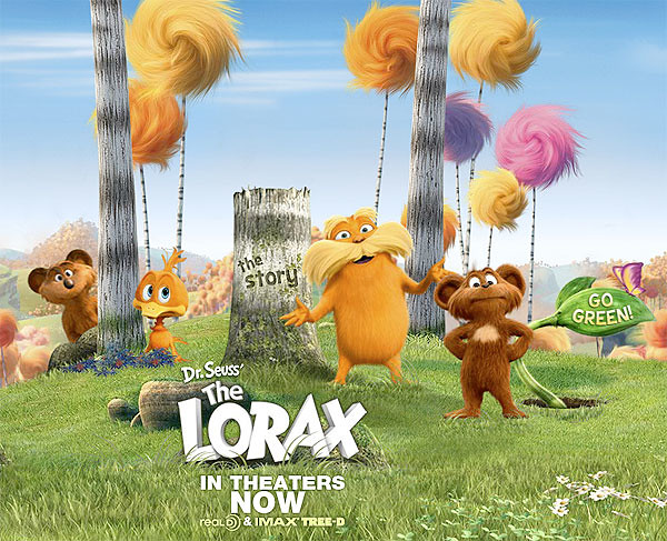 Lots of orange, furry creatures in The Lorax