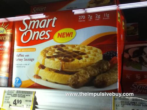 Smart Ones Waffles with Turkey sausage on shelf