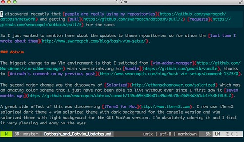 solarized with vim with dark background