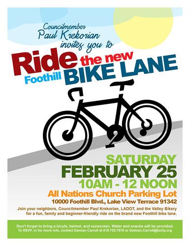 2012 Bike Lane Flier