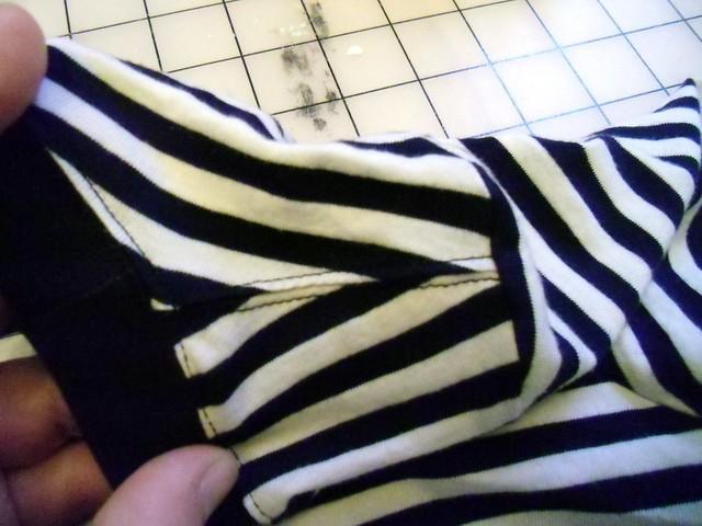 Stripey - topstitching