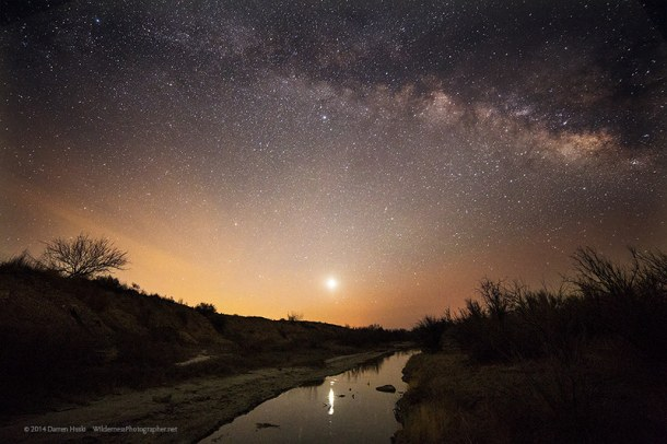 Milky Way over the Pecos River