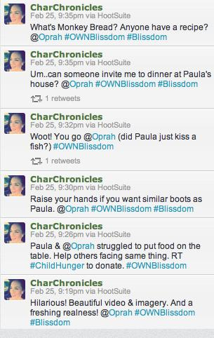 Blissdom Oprah Tweets One