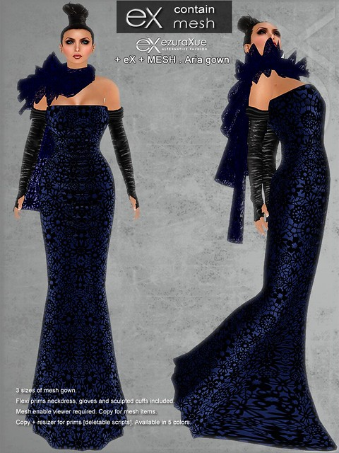 + eX + MESH . ARIA Lace Gown EXCLUSIVE COLOR for RFL