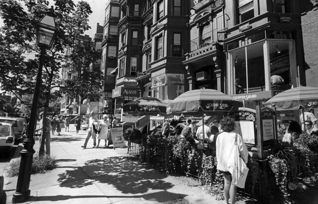 Summer shopping in Back Bay, Newbury Street, downtown Boston