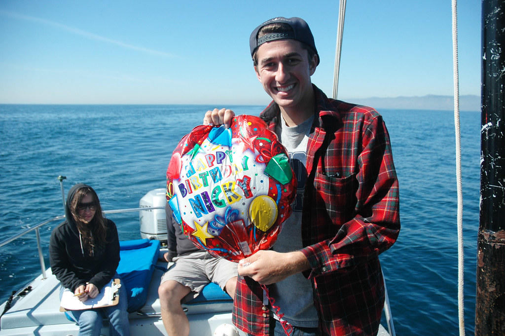 Nick celebrates birthdays past by rescuing the sea from a balloon