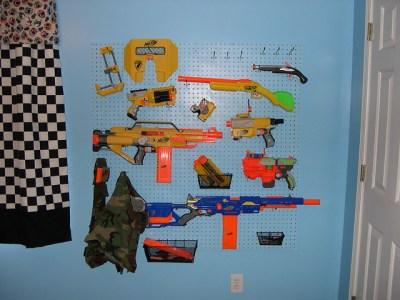 Nerf gun rack!