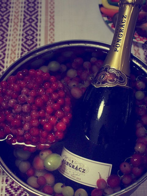 How to chill wine quickly if your mother-in-law has no ice =)
