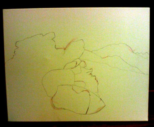 Outline Sketch For My New Painting