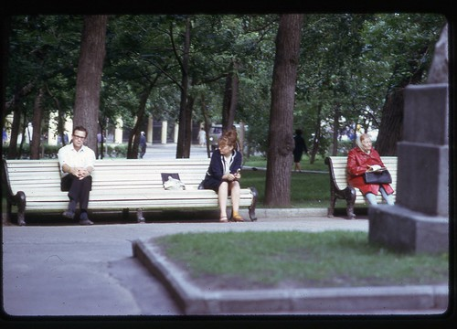 Alone with Portrait and a Yellow Sock - Moscow, 1969