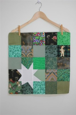 Dark green block made for me by Hilary