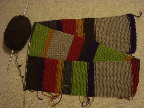 The Doctor's scarf, WIP