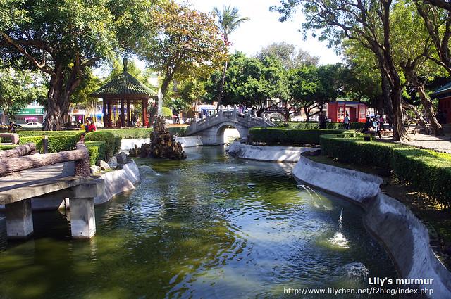 這是延平郡王祠外的中式庭園,很漂亮,麻雀雖小五臟俱全。