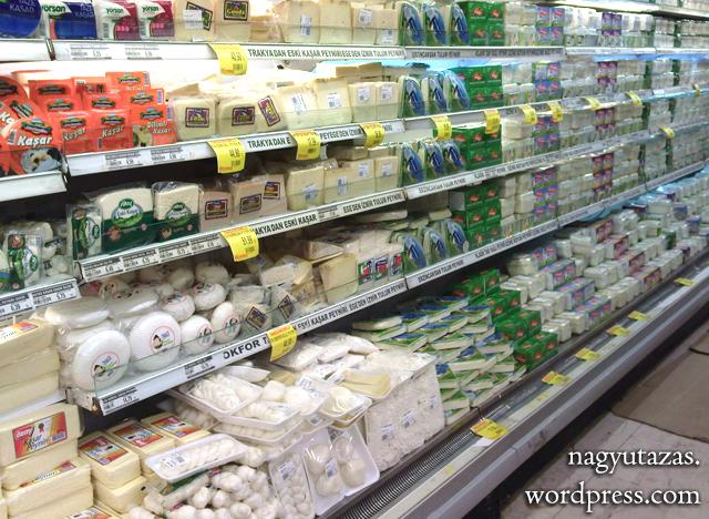 Bevásárlás - Török sajtok