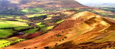 Black mountains Wales Nr Talgarth showing Pen y Fan in the distance.# dailyshoot - mountains