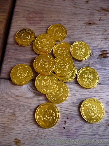 Peter Luger Steak House- gold chocolate coins