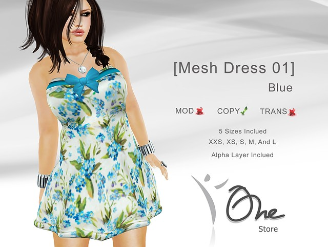 [Mesh Dress 01] Blue