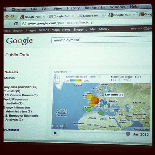 "Googling ""unemployment"" using public data http://www.google.com/publicdata/directory"