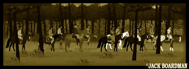 Blackmon's posse on the move ©2012 Jack Boardman