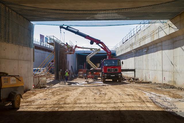Ultimos muros por levantar en la zona del Triangle Ferroviari - 15-02-12