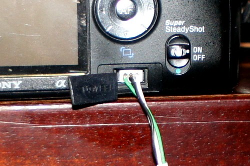 Sony A100 remote interface