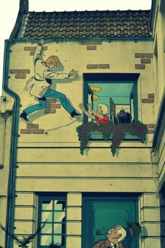 Paredes de cómic, Bruselas Especial Arte Urbano en Flandes - 6935180453 d2481137cc - Especial Arte Urbano en Flandes