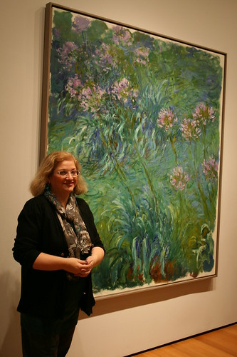 "Dianne with Monet's ""Agapanthus"" at MoMA"