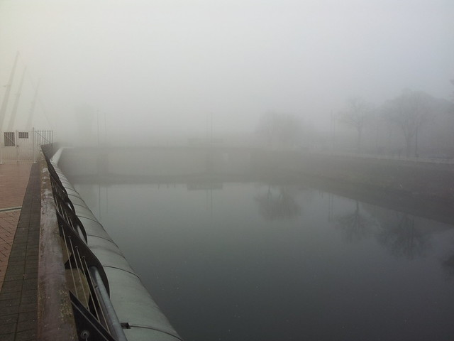 Cardiff in the fog