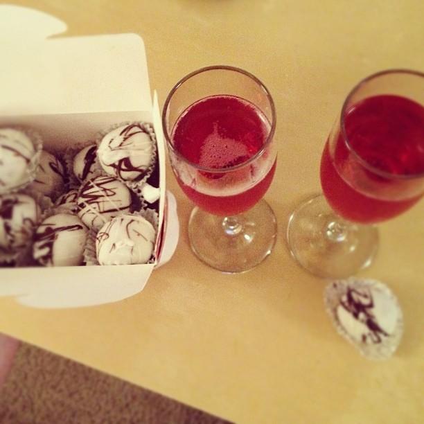 Pink Champagne, Red Velvet Cake Truffles