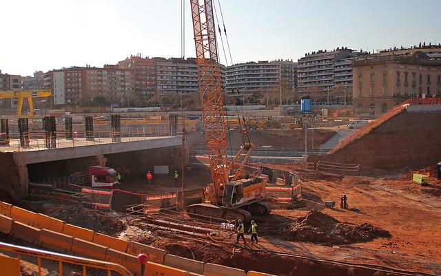 Zona futura estación de la Sagrera - Parc de Sant Martí