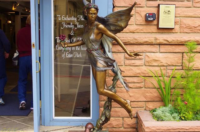 Winged sculpture, Estes Park, Colorado, Sept. 15, 2011