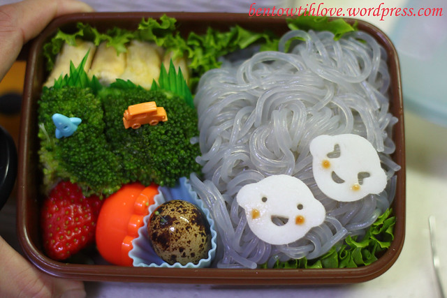 Simple Cold Glass Noodle Bento