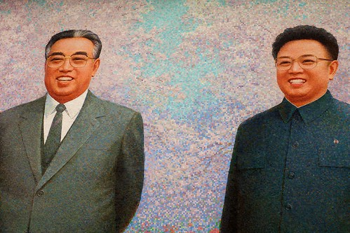 Kim Jong-Il and Kim Il-sung Mural