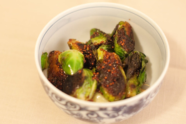 Brussels sprouts w/ honey and mustard
