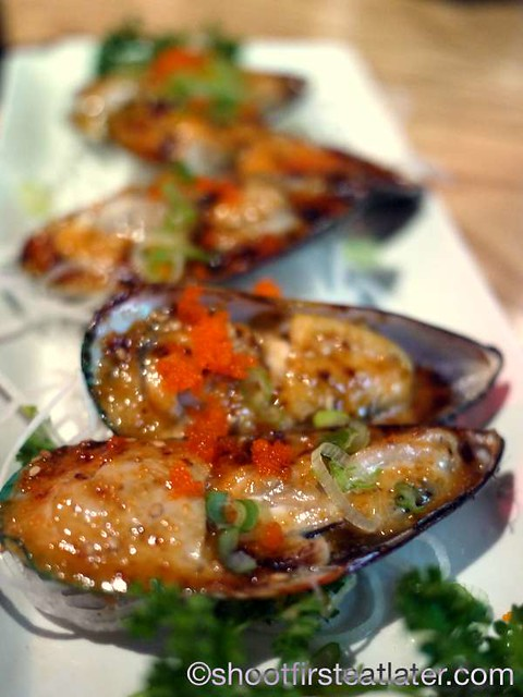 Sushi One (Valencia, Ca)- baked green mussels $5.50