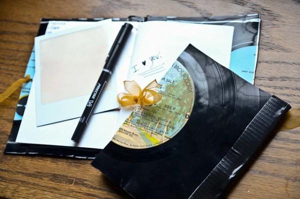 DIY Vinyl Record Notebook
