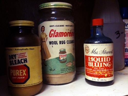 Purex, Glamorene, Mrs. Stewart's Liquid Bluing