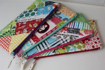 4 scrappy pouches...